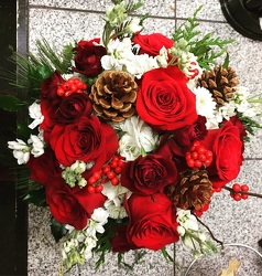 Holiday Season Bouquet  from Arjuna Florist in Brockport, NY