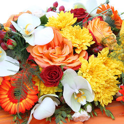 Designer's Choice Thanksgiving Centerpiece from Arjuna Florist in Brockport, NY