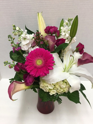 Another creative floral arrangement from Arjuna Florist & Design Shoppe