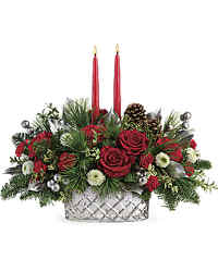 Teleflora's Merry Mercury Centerpiece from Arjuna Florist in Brockport, NY