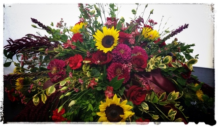 Arjuna's Custom Casket Spray from Arjuna Florist in Brockport, NY