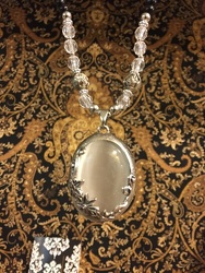 Mother of Pearl Statement Necklace from Arjuna Florist in Brockport, NY