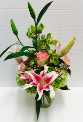 Lilies and Orchids from Arjuna Florist in Brockport, NY
