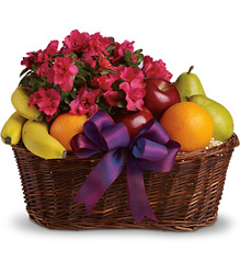 Fruits and Blooms Basket from Arjuna Florist in Brockport, NY
