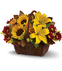 Golden Days Basket from Arjuna Florist in Brockport, NY
