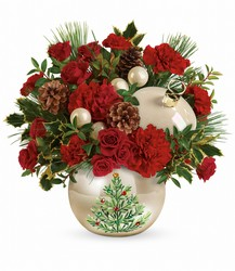 Teleflora's Classic Pearl Ornament Bouquet from Arjuna Florist in Brockport, NY