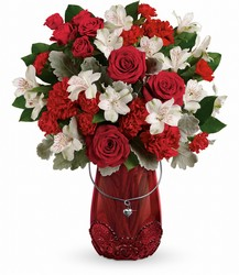 Teleflora's Red Haute Bouquet from Arjuna Florist in Brockport, NY