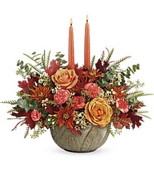 Artisanal Autumn Centerpiece from Arjuna Florist in Brockport, NY