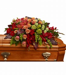 A Fond Farewell Casket Spray from Arjuna Florist in Brockport, NY