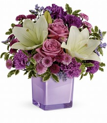 Teleflora's Pleasing Purple Bouquet from Arjuna Florist in Brockport, NY