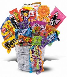 Junk Food Bucket from Arjuna Florist in Brockport, NY