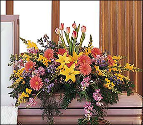 Blooming Glory Casket Spray from Arjuna Florist in Brockport, NY